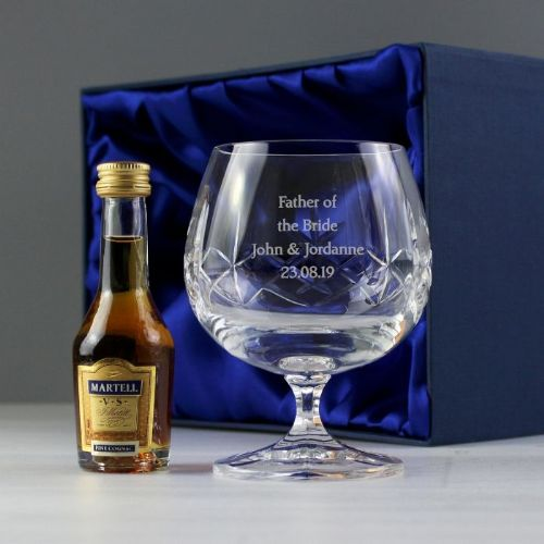 Cut Crystal & Brandy Gift Set